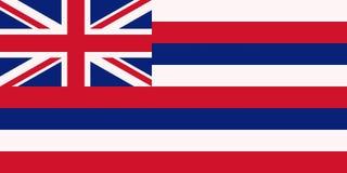 Bandiera delle Hawai U S Bandiera dello stato illustrazione vettoriale