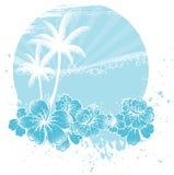 Bandiera delle palme illustrazione vettoriale