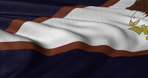 Bandiera delle samoa americane che fluttua in brezza leggera Fotografie Stock