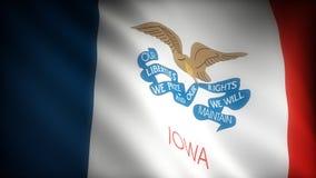 Bandiera dello Iowa illustrazione di stock