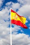 Bandiera dello Spagnolo Immagini Stock