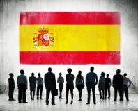 Bandiera dello Spagnolo Immagini Stock Libere da Diritti