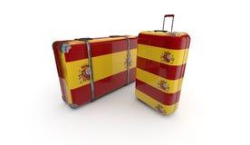Bandiera dello Spagnolo Fotografie Stock