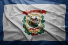 Bandiera dello stato del Virginia Occidentale Fotografia Stock