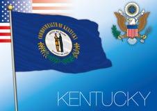 Bandiera dello stato federale del Kentucky, Stati Uniti illustrazione di stock