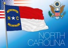 Bandiera dello stato federale della Nord Carolina, Stati Uniti royalty illustrazione gratis