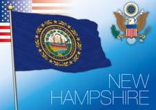 Bandiera dello stato federale di New Hampshire, Stati Uniti illustrazione di stock
