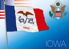 Bandiera dello stato federale dello Iowa, Stati Uniti illustrazione di stock