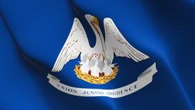 Bandiera dello stato USA della Luisiana che ondeggia sul vento royalty illustrazione gratis