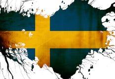 Bandiera dello svedese Fotografia Stock Libera da Diritti