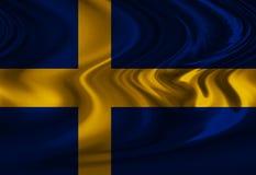 Bandiera dello svedese Fotografia Stock