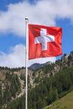 Bandiera dello svizzero Fotografia Stock Libera da Diritti