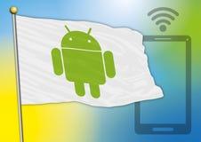 Bandiera di Android Fotografie Stock Libere da Diritti