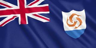Bandiera di Anguilla che ondeggia con il vento Fotografia Stock Libera da Diritti