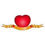 Bandiera di anniversario del cuore Fotografie Stock