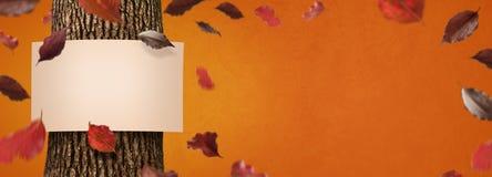 Bandiera di autunno Fotografia Stock Libera da Diritti