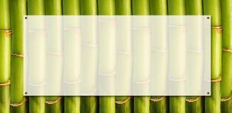 Bandiera di bambù Immagine Stock Libera da Diritti