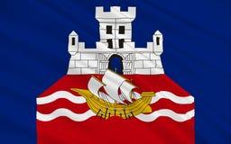 Bandiera di Belgrado, Serbia fotografia stock