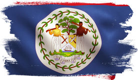 Bandiera di Belize Fotografia Stock Libera da Diritti