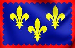 Bandiera di Berry Region, Francia Fotografia Stock