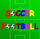 Bandiera di calcio Fotografie Stock Libere da Diritti