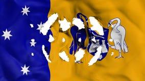 Bandiera di Canberra con piccoli fori illustrazione di stock