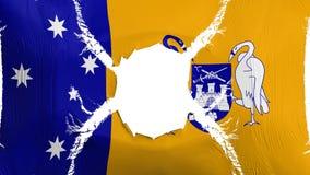 Bandiera di Canberra con un foro illustrazione vettoriale