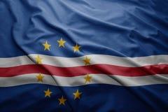 Bandiera di Capo Verde Immagine Stock Libera da Diritti