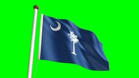 Bandiera di Carolina del Sud illustrazione di stock