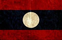 Bandiera di carta Grungy del Laos illustrazione vettoriale