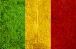 Bandiera di carta Grungy del Mali illustrazione di stock