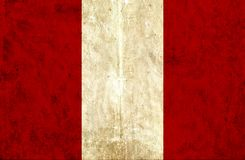 Bandiera di carta Grungy del Perù illustrazione di stock