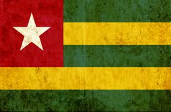 Bandiera di carta Grungy del Togo illustrazione vettoriale