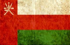 Bandiera di carta Grungy dell'Oman illustrazione vettoriale
