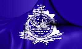 Bandiera di Charleston South Carolina, U.S.A. illustrazione di stock