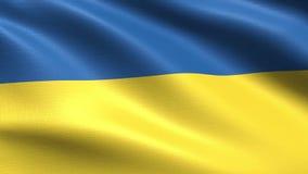 Bandiera di ciclaggio 4K dell'Ucraina, con struttura d'ondeggiamento del tessuto royalty illustrazione gratis