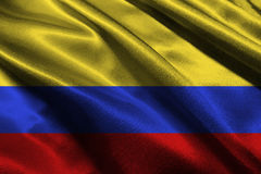 Bandiera di Colombia, simbolo dell'illustrazione della bandiera 3D di nazione di 3D Colombia Immagine Stock Libera da Diritti