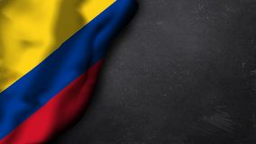 Bandiera di Colombia su un fondo del gesso Fotografie Stock