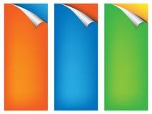Bandiera di colore con il bordo della flessione Immagini Stock Libere da Diritti