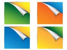 Bandiera di colore con il bordo della flessione Fotografia Stock