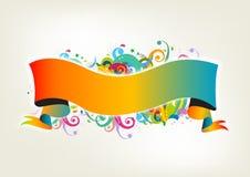 Bandiera di Colorfull illustrazione di stock