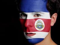Bandiera di Costa Rica Immagini Stock Libere da Diritti