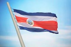 Bandiera di Costa Rica Immagine Stock Libera da Diritti
