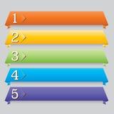 Bandiera di disegno di Web di Origami per il Web site Fotografia Stock Libera da Diritti