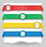 Bandiera di disegno di Web per il Web site Fotografia Stock
