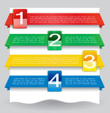 Bandiera di disegno di Web per il Web site con i numeri Fotografie Stock Libere da Diritti