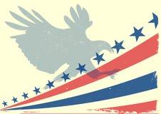 Bandiera di Eagle Fotografia Stock