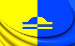 Bandiera di Ede Gelderland, Paesi Bassi Fotografia Stock Libera da Diritti