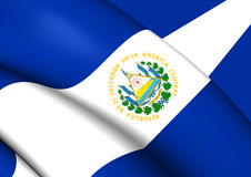 Bandiera di El Salvador Immagini Stock