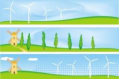 Bandiera di energia rinnovabile Immagini Stock